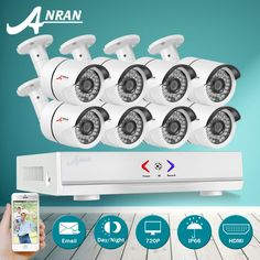 204.59$  Know more - http://aiu4n.worlditems.win/all/product.php?id=32754305714 - New Arrivals Plug and Play 8CH 1080N AHD HDMI H.264 DVR Security Camera System 720P 1800TVL Waterproof Outdoor Camera CCTV Kit