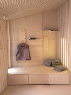 Piiri modular house from inside Interior Architecture, Interior And Exterior, Plywood Interior, Rose House, Wood Cladding, Tiny House Cabin, Tiny Spaces, Contemporary Interior, Small Living