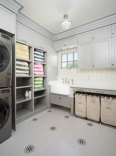 Perfectly organized laundry room