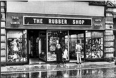 Saturday visit to the rubber shop for toys