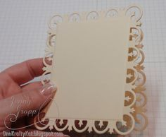 TUTORIAL by Jenny Gropp.... How to MAKE DIE-CUT CARDS... scroll down to card #3 in post