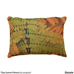 Tiny Leaves Pattern Outdoor Accent Pillow from ZoeSPEAK