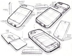 Industrial design: good Sketch style, phone