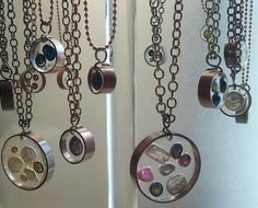 Recycled copper, resin pearls. Up-cycled jewelry (like the look, not sure about the pearls)