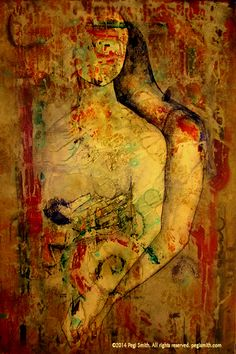 Moment's Embrace  24″ x 36″ Acrylic on Canvas by Pegi Smith  Original painting and prints available at pegismith.com