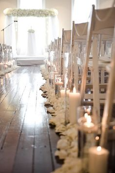 No Aisle runner just something simple