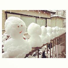 雪リョーシカ完成☃気づいたら自分も雪だるま #snow #tokyo - @sakkn- #webstagram