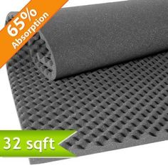 """Convoluted Acoustic Foam Panels are manufactured from acoustic grade polyurethane foam, in an """"egg crate"""" design, which provides an increased surface area, giving you better sound absorption performance. The material is flexible and easy to cut. This product is perfect for any application where acoustics are poor and budgets are tight."""