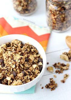 Peanut Butter Chocolate and Banana Chip Granola - Blahnik Baker