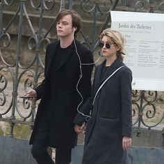 "Well..well..well..turns out that Jonathan Byers and Nancy Wheeler is solving mysteries too in real life. These two is seen holding hand in Paris after months of rumors circling around. They look cute together but we're still #TeamSteve because something is off with Charlie Heaton. He misses the Stranger Things's 2 premiere because he can't enter the US due to ""very small amount"" of cocaine found in his belonging. via NYLON INDONESIA MAGAZINE OFFICIAL INSTAGRAM - Celebrity  Fashion  Haute…"