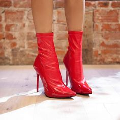I make shoe contact before I make I eye contact #truth || Shop the shoes: http://www.nastygal.com/shoes/cut-throat-stretch-bootie-heel--red?utm_source=pinterest&utm_medium=smm&utm_term=omg_shoes&utm_campaign=editorial