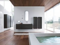 8 Stunning Contemporary Bathroom Designs by Mastella Design Contemporary White Bathrooms, Modern Bathroom, Bath Design, Beautiful Bathrooms, Cool Lighting, Interior Design Inspiration, Architecture Design, House Styles, Home