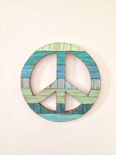 Rustic Wood Peace Sign Wall Decor By Onelove On Etsy 65 00