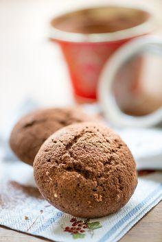 Magdalenas de chocolate con aroma de naranja