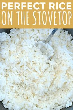 A comprehensive (and easy) guide with a cooking video for how to cook rice on the stove. A comprehensive (and easy) guide with a cooking video for how to cook rice on the stove. White Rice Dishes, White Rice Recipes, Rice Side Dishes, Rice Recipes For Dinner, Side Dishes Easy, Side Dish Recipes, Food Dishes, Jasmine Rice Recipes, Basmati Rice Recipes