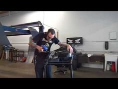cafe racer making knee inserts - YouTube