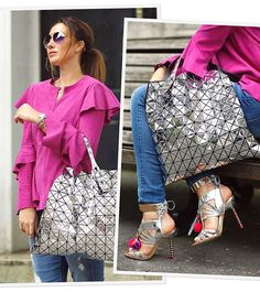 Perfect Match! ✨ Blusa pink de chamois com babados @criscapoani + bag e sandália metalizadas, no look da minha F🌟hits influencer gaúcha @claudiabartelle. Love it! ❤️ #FhitsLondon #FhitsTeam #FhitsTips