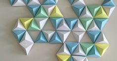 20 Creative Geometric Origami Wall Art Ideas Which Totally Amazing - Origami Design, Origami Wall Art, Instruções Origami, Origami Star Box, Origami Fish, Origami Bookmark, Origami Dragon, Useful Origami, Origami Folding