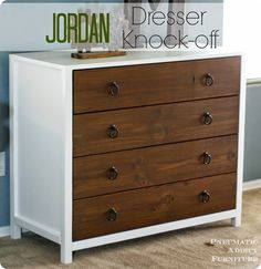 DIY Furniture | Pottery Barn Kids Knock Off Solid Wood Dresser for Only $150 - Free Plans!