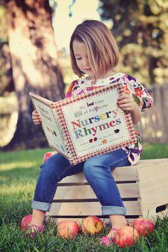 Back to School portrait portraits photography photographer elk grove park sacramento apples book child children girl