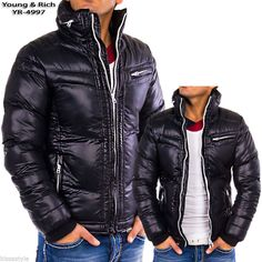 Herren Winter Jacke Biker Parka Cipo Baxx Redbridge Young Rich Authentic Style