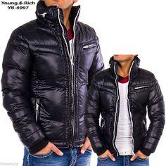 Herren Winter Jacke Biker Parka Cipo Baxx Redbridge Young Rich Authentic Style