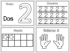 Grafomotricidad números del 1 al 10 – Imagenes Educativas Free Kindergarten Worksheets, Preschool Math, Math Worksheets, Math Activities, Maths, Numbers Preschool, Eureka Math, Writing Numbers, Home Learning