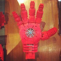 The hand of Iron Man. #lego #marvel #ironman #tonystark #singapore #LEGOny #legosg #legofans #legogram #instagood #instalike #afol #legostagram by brickfinder