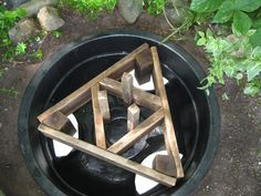 Making a fountain with a millstone