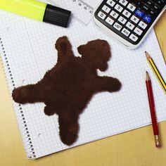 Unser Dickes Fell deluxe - Braunbär - ein schönes Mini Bärenfell als schönes Geschenk für liebe Menschen mit schwachen Nerven ;) #Geschenk #Fell #Braunbär #DickesFell