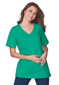 b183ab11d4d Woman Within Women`s Plus Size Knit T... Plus Size T Shirts