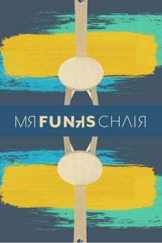 Funk's Chair - A wonderful gift for those that love a bit of funk in their lives! Funky Chairs, Cool Chairs, Wooden Chairs, Wooden Furniture, Three Legged Stool, Handmade Wooden, Chair Design, Cool Stuff, Amazing