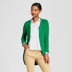 Women's Cocoon Cardigan - A New Day Kelly Green Xxl