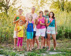 Family Paint Fight. FUN!