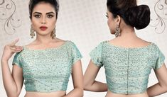 New & Latest boat neck blouse designs 2019 - New Blouse Designs Blouse Designs Catalogue, Stylish Blouse Design, Fancy Blouse Designs, Bridal Blouse Designs, Full Sleeves Blouse Designs, Saree Jacket Designs, Cotton Saree Blouse Designs, Sari Blouse, Designer Blouse Patterns