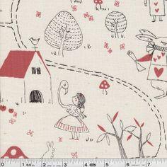 Alice in Wonderland: fabric