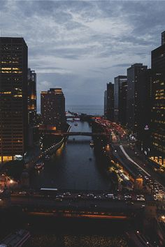 """visualechoess: """" Chicago by Michael Kirchner """""""