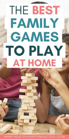 The best family games to play at home. Check out the top game night ideas for your family! Board games and cards specifically for kids and adults. #familygamesindoor #familygamesnightideas #gamesforkids Family Games To Play, Family Games Indoor, Family Activities, Games For Kids, Charades For Kids, Family Game Night, Night Kids, Most Played, Games To Buy