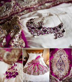 purple inspiration #indianbride - bridal lengha