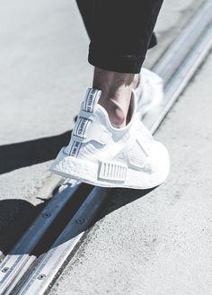Footwear: Adidas NMD_XR1 PK 'white' .
