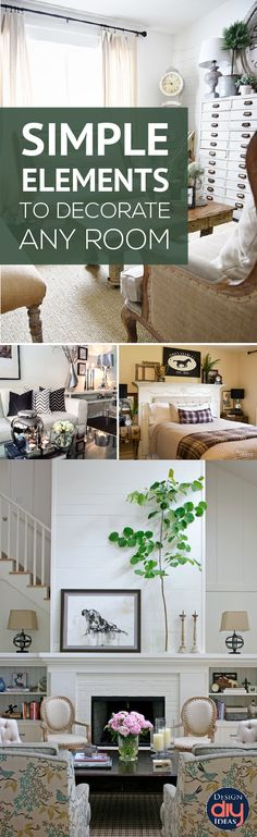 Simple Elements to decorate ANY room - Design DIY Ideas-If you're starting at square one, here are a few elements you can use to decorate any room and create a space you can be proud of.