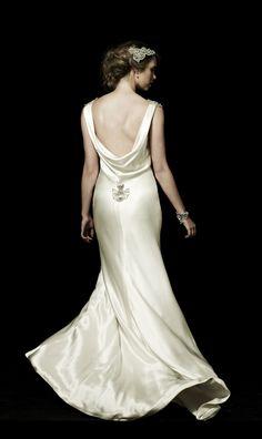Dress Back - Johanna Johnson Wedding dress 30s style