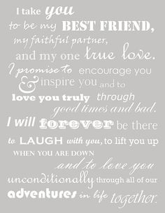 I actually like these vows more than traditional wedding vows.