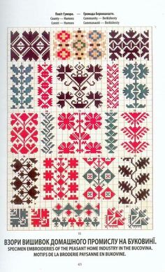 FolkCostume&Embroidery: May 2016 Palestinian Embroidery, Hungarian Embroidery, Folk Embroidery, Chain Stitch Embroidery, Embroidery Stitches, Embroidery Patterns, Cross Stitch Borders, Cross Stitch Patterns, Russian Cross Stitch