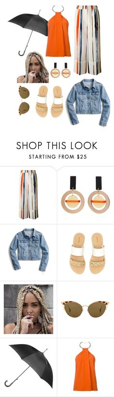 """""""Crazy girls world"""" by sassievanrobays ❤ liked on Polyvore featuring Sonia Rykiel, Toolally, J.Crew, Soludos, Ahlem, Totes and Thierry Mugler"""