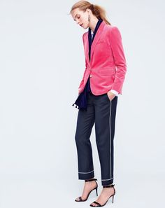 The J.Crew women's party pj pant. The extroverted version of your actual pajama pants: polished, tailored and just kills it at cocktail parties.