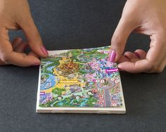 © Disney park map coasters (how to make)