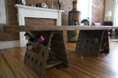 Riddling rack table