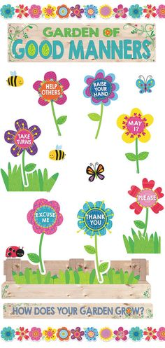 Decorate your classroom for Spring time with this Garden of Good Manners Bulletin Board! Great for teaching positive behavior and manners.