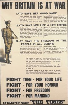 A British recruitment poster.
